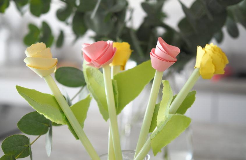 Diy Einfache Papierblumen Basteln Franzisaidwhat